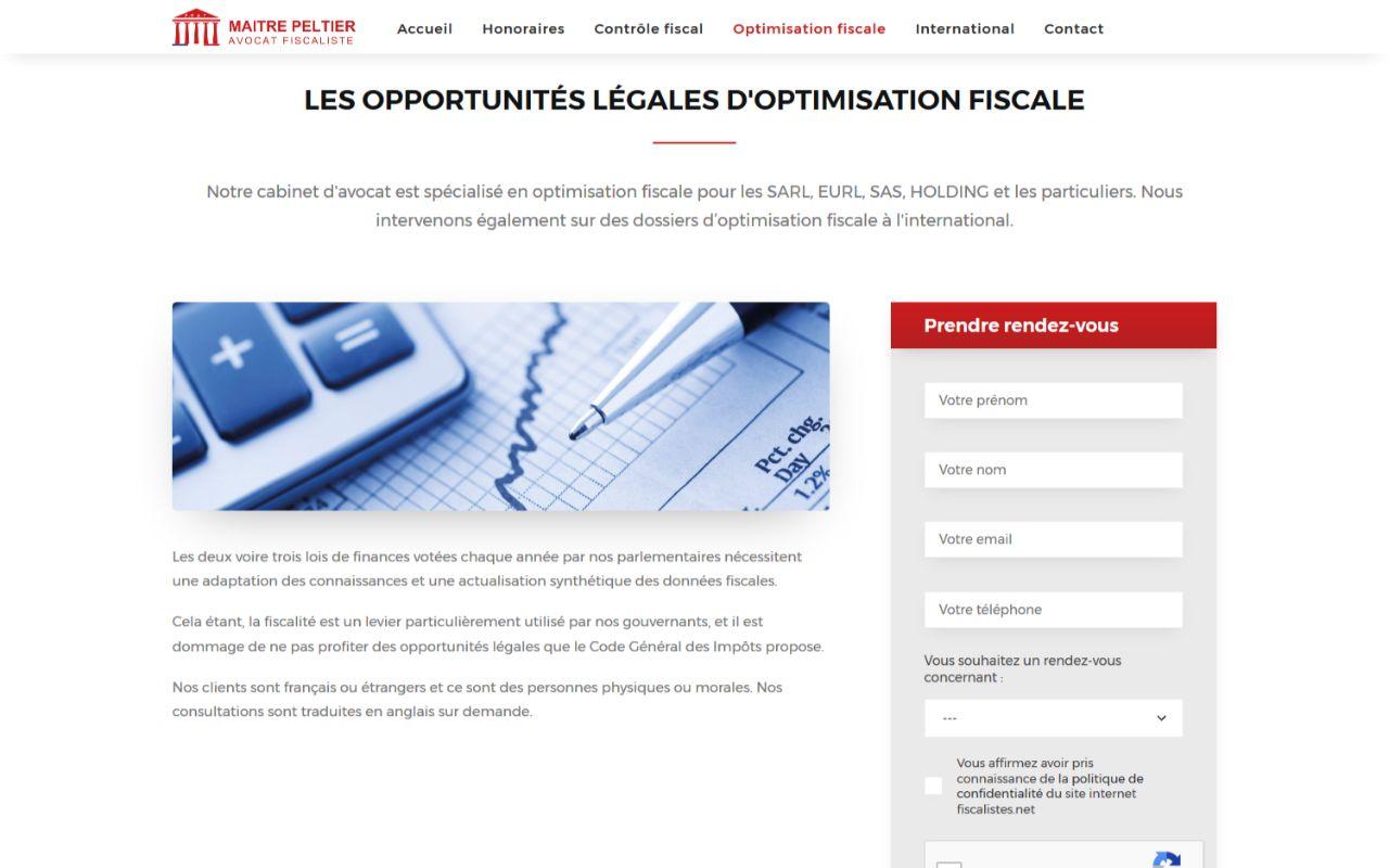 Création site internet wordpress pour Maitre Peltier à Toulon