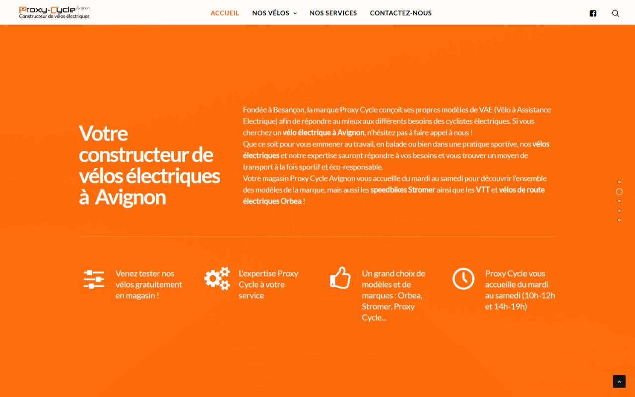 Création site internet Wordpress Procy Cycle Avignon