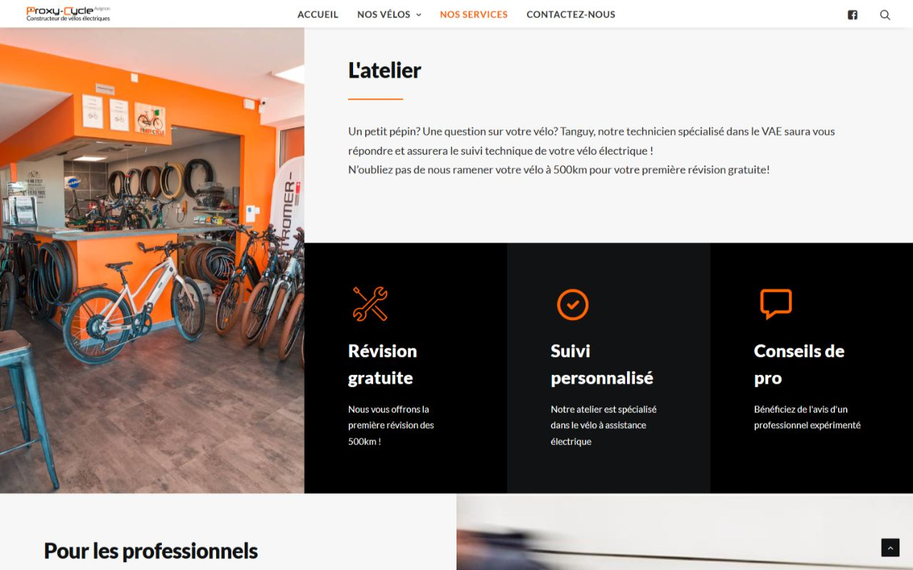 Site Wordpress Procy Cycle Avignon