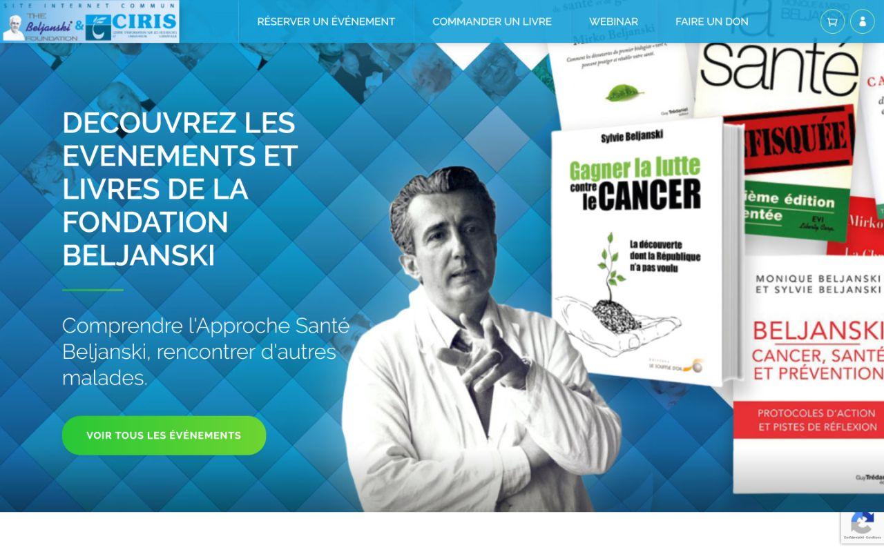 Création site internet Wordpress Fondation Beljanski