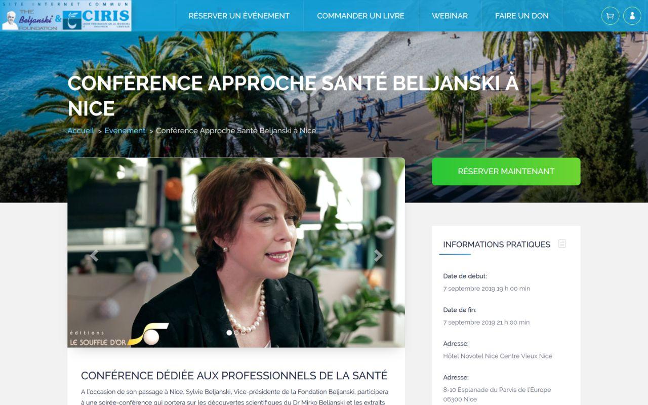 Création site Wordpress e-commerce pour les livres de la Fondation Beljanski