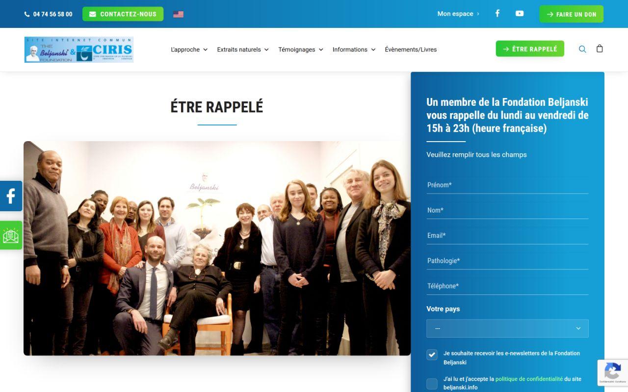 Refonte site Wordpress Fondation Beljanski