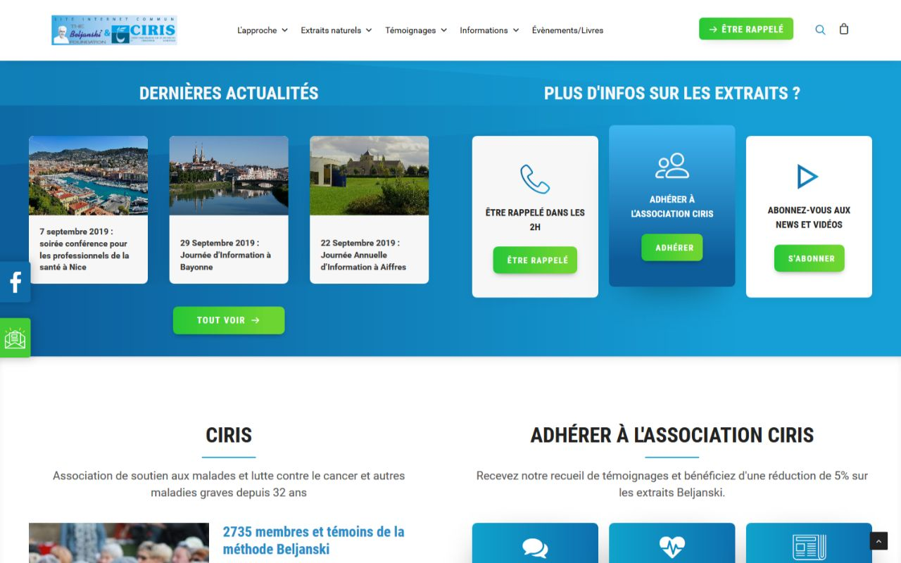 Refonte site internet Wordpress association lutte contre le cancer