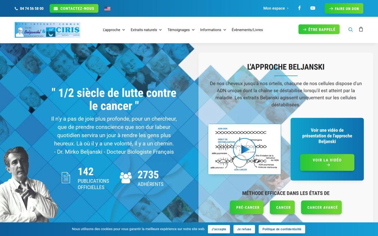 Refonte site Wordpress association lutte contre le cancer