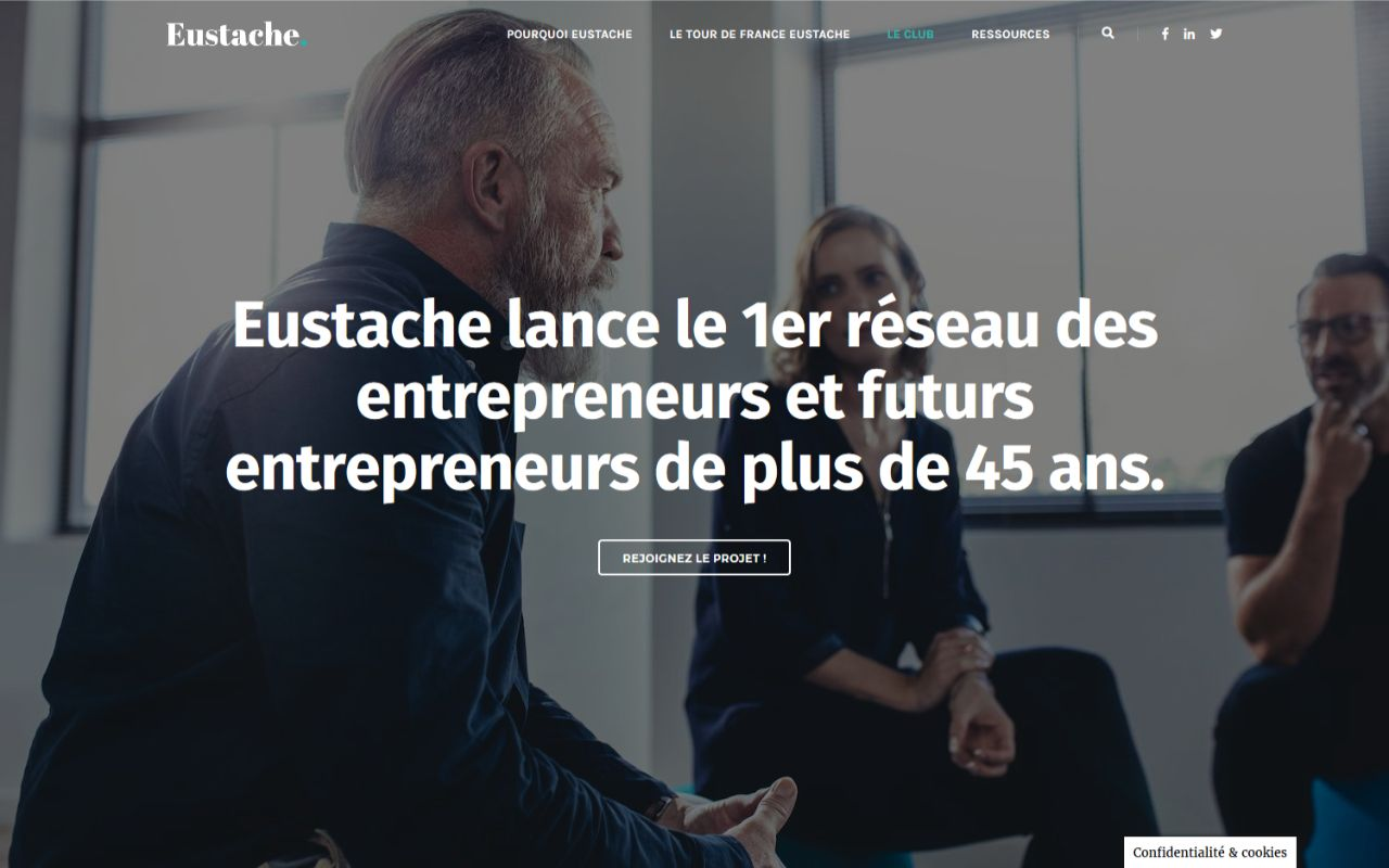 Création site web Wordpress pour le club Eustache