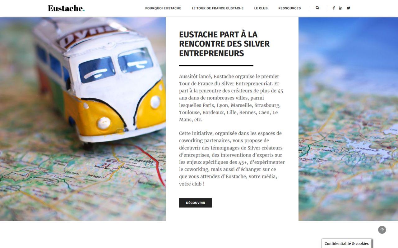 Création site internet Wordpress pour le club Eustache