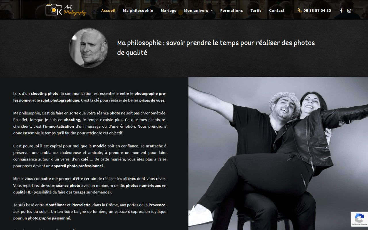 Création site Wordpress photographe OK-Artphotography