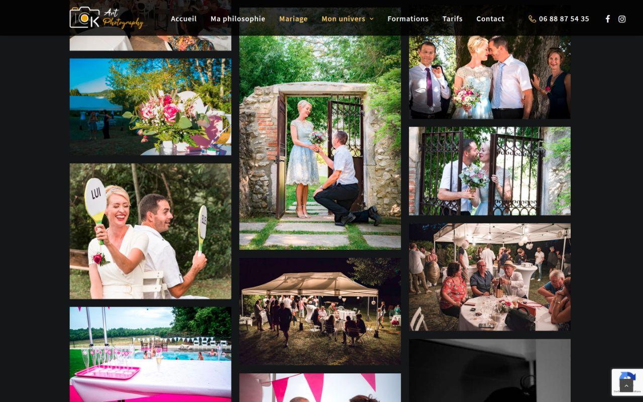 Création site Wordpress photographe Montélimar