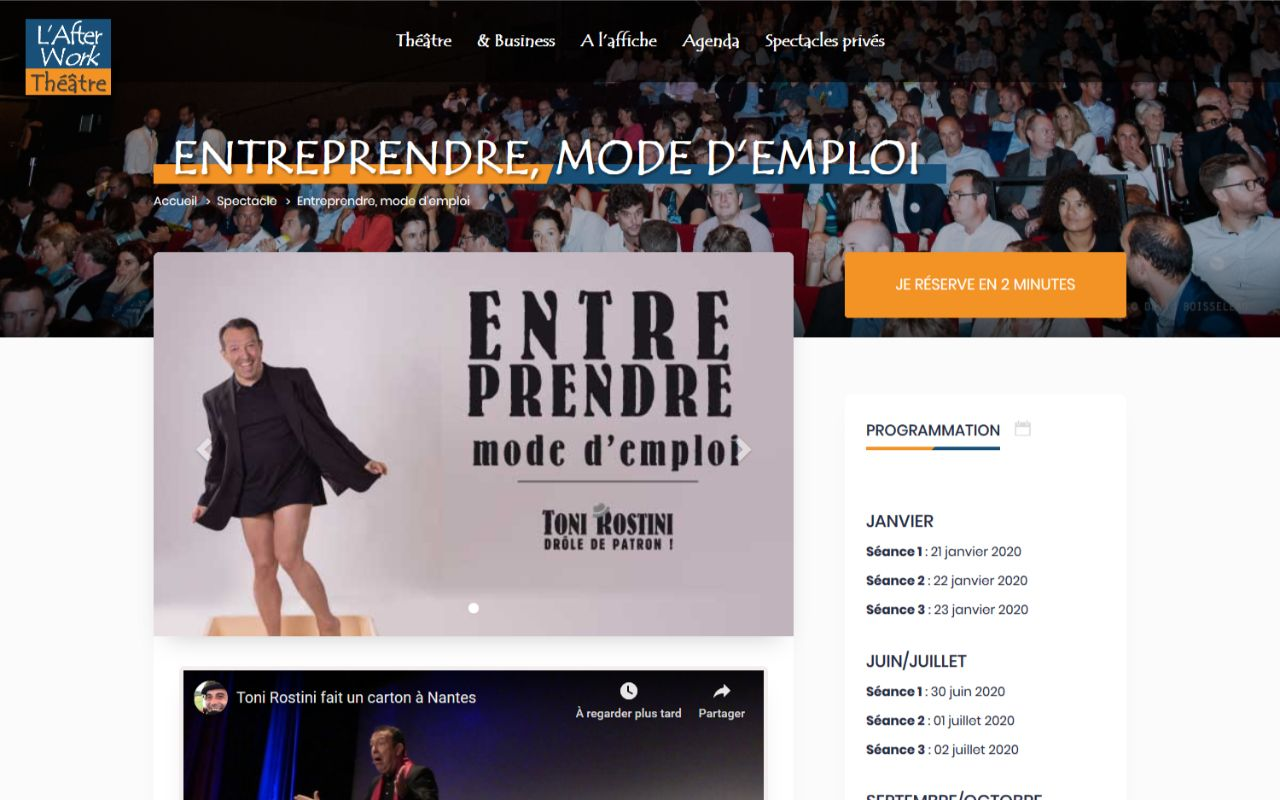 Création site Wordpress AFterwork Théâtre