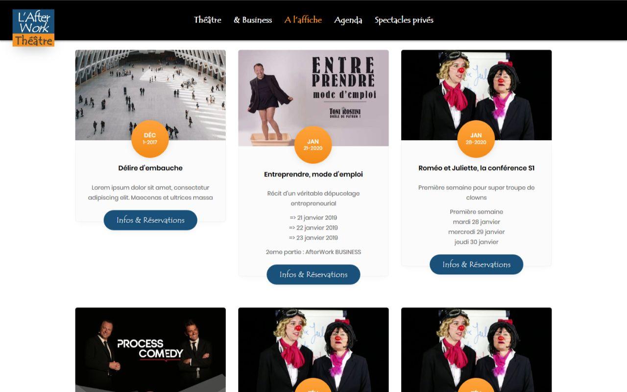 Création site internet Wordpress AFterwork Théâtre