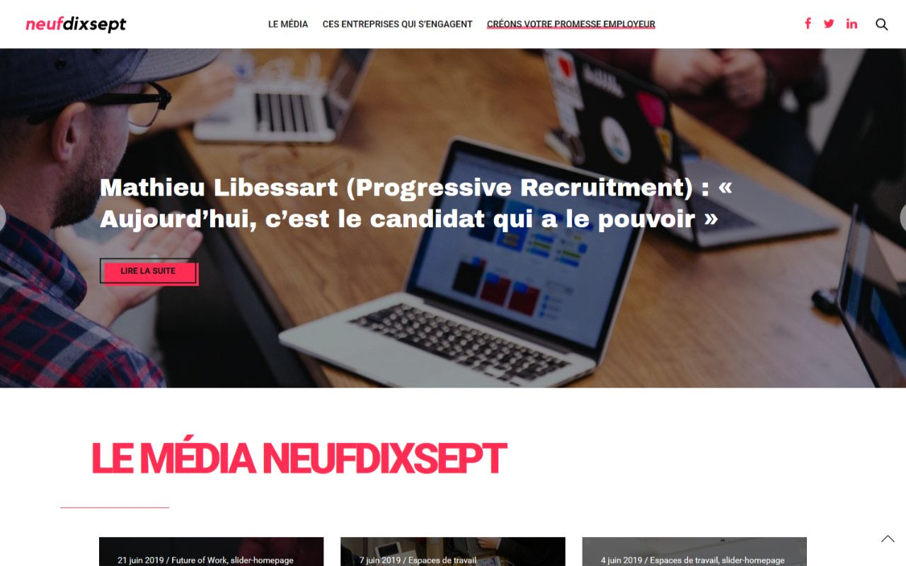 Refonte site Wordpress magazine Neufdixsept